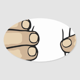 Smasher Hand Oval Sticker