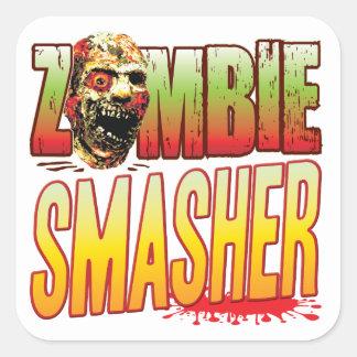 Smasher Zombie Head Square Sticker