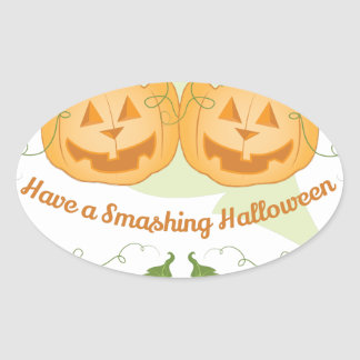 Smashing Halloween Oval Sticker