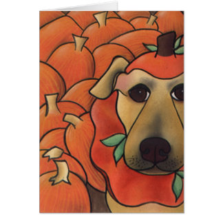 Smashing In Pumpkins by Robyn Feeley Card