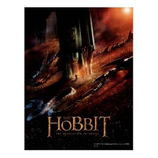 Smaug cerca Bilbo Tarjeta Postal