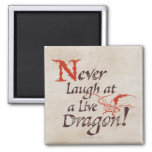 SMAUG™ - Never Laugh At A Live Dragon 2 Inch Square Magnet