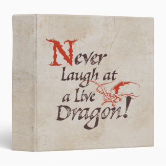 SMAUG™ - Never Laugh At A Live Dragon 3 Ring Binder