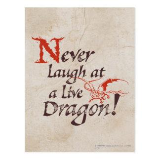 SMAUG™ - Never Laugh At A Live Dragon Postcard