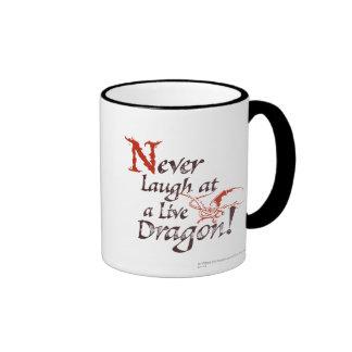 SMAUG™ - Never Laugh At A Live Dragon Ringer Coffee Mug
