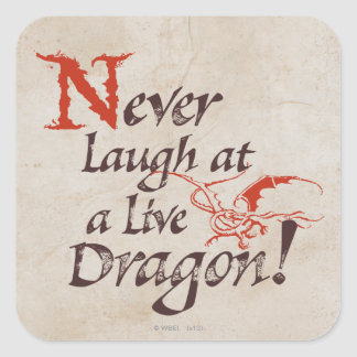 SMAUG™ - Never Laugh At A Live Dragon Square Sticker