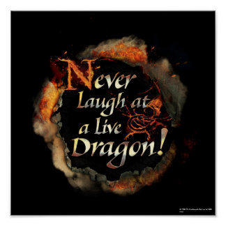 SMAUG™ - Never Laugh Logo Graphic Poster