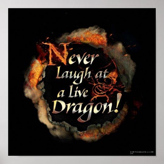 SMAUG™ - Never Laugh Logo Graphic Poster