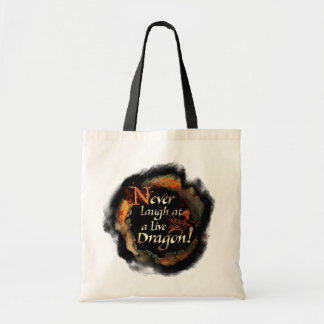 SMAUG™ - Never Laugh Logo Graphic Tote Bag