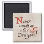 SMAUG™ - Nunca ríase de un dragón vivo Imán Cuadrado
