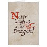Smaug - nunca ríase de un dragón vivo tarjetón