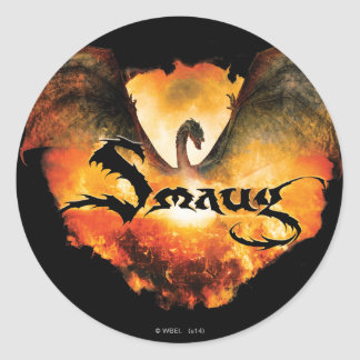 SMAUG™ Over Laketown Classic Round Sticker