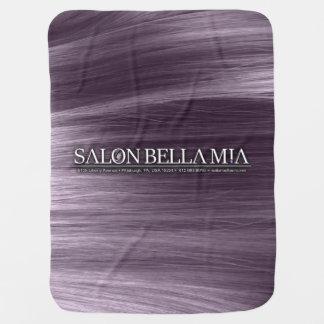 SMB Golden Curl Logo Violet Baby Blanket