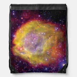 SMC WR7 Binary Star Nebula - Hubble Space Photo Drawstring Backpack