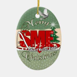SME CHRISTMAS Subject Matter Expert Ceramic Ornament