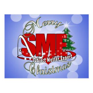 SME CHRISTMAS Subject Matter Expert Postcard