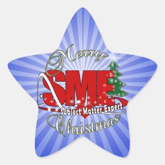 SME CHRISTMAS Subject Matter Expert Star Sticker