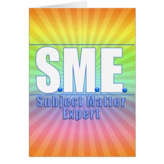 SME  LOGO SUBJECT MATTER EXPERT WHITE/BLUE CARD