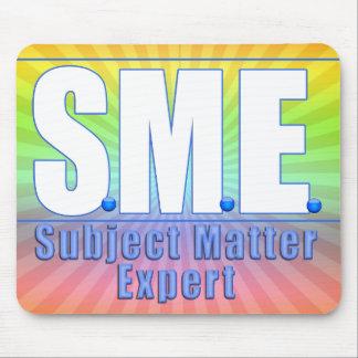 SME  LOGO SUBJECT MATTER EXPERT WHITE/BLUE MOUSE PAD