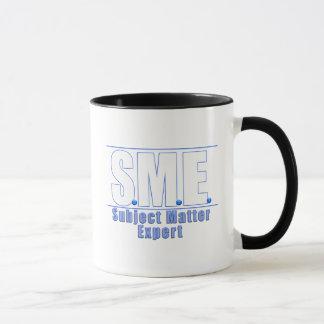 SME  LOGO SUBJECT MATTER EXPERT WHITE/BLUE MUG