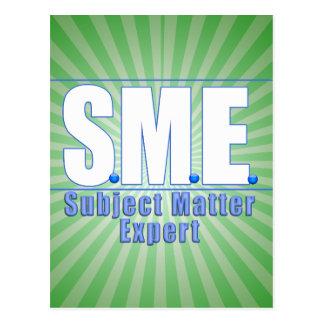 SME  LOGO SUBJECT MATTER EXPERT WHITE/BLUE POSTCARD