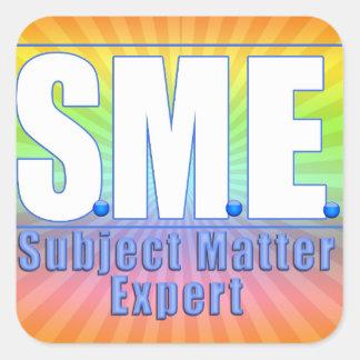 SME  LOGO SUBJECT MATTER EXPERT WHITE/BLUE SQUARE STICKER