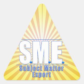 SME  LOGO SUBJECT MATTER EXPERT WHITE/BLUE TRIANGLE STICKER