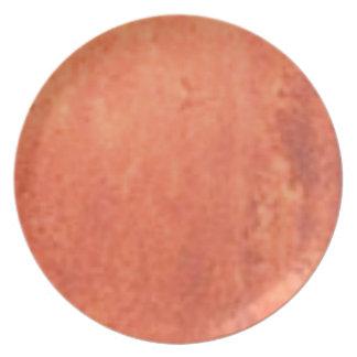 smear of orange plate
