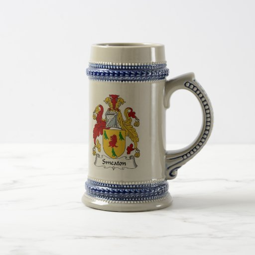 Smeaton Coat of Arms Stein - Family Crest 18 Oz Beer Stein