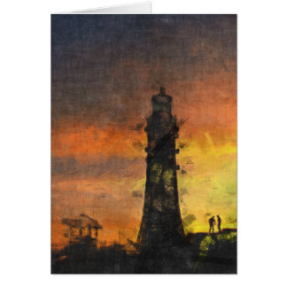 Smeaton's Tower at Sunset Card