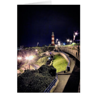 Smeaton's Tower by Night - blank notelet Card