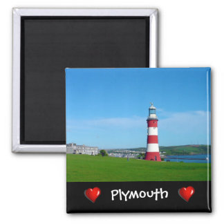 Smeaton's Tower, Plymouth Hoe 2 Inch Square Magnet