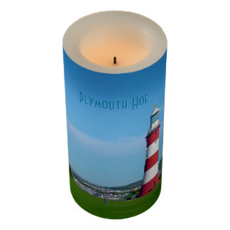 Smeatons Tower, The Hoe, Plymouth, Devon Souvenir Flameless Candle