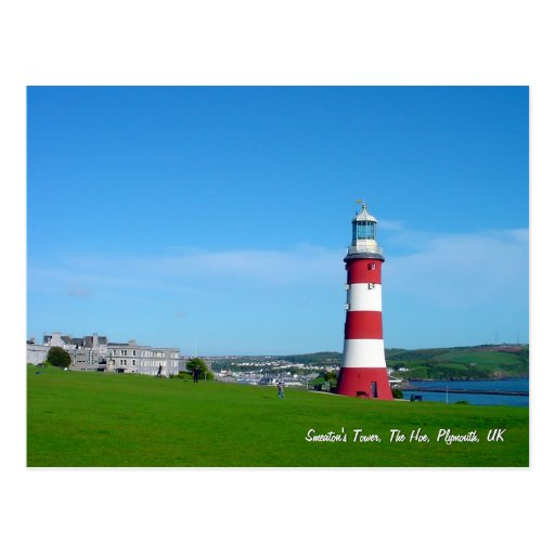 Smeaton's Tower, The Hoe, Plymouth postcard
