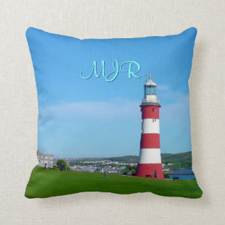 Smeaton's Tower, The Hoe, Plymouth Throw Pillow