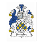 Smedley Family Crest Post Card