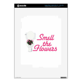 Smell Flowers Skins For iPad 3