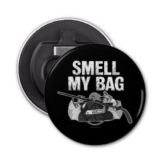 Smell My Bag Button Bottle Opener