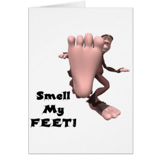 Smell My Feet Big Foot Monster Cards