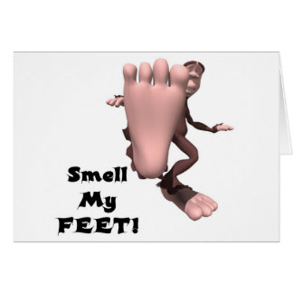 Smell My Feet Big Foot Monster Greeting Cards