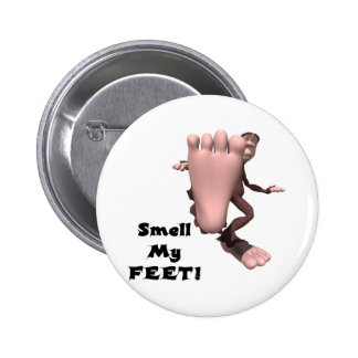 Smell My Feet Big Foot Monster Pin