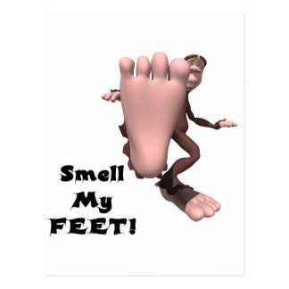 Smell My Feet Big Foot Monster Post Card