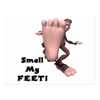 Smell My Feet Big Foot Monster Postcard