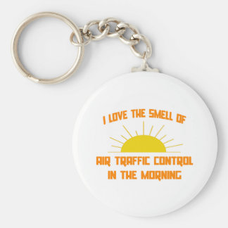 Smell of Air Traffic Control in the Morning Basic Round Button Keychain