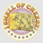 Smell Of Cheese Round Sticker