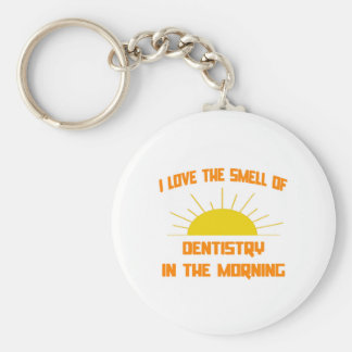 Smell of Dentistry in the Morning Basic Round Button Keychain