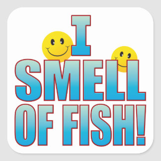 Smell Of Fish Life B Square Sticker