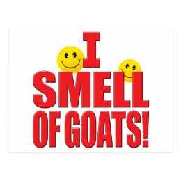 Smell Of Goats Life Postcard