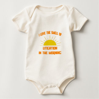 Smell of Litigation in the Morning Baby Bodysuit