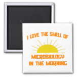 Smell of Microbiology in the Morning 2 Inch Square Magnet